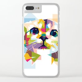 Little colorful cat Clear iPhone Case