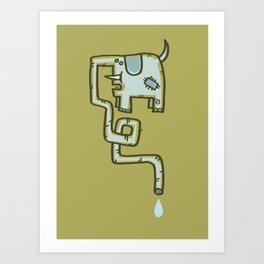 Olive Patch Art Print
