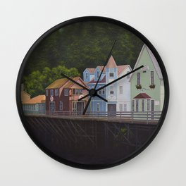 Ketchikan's Creek Street Wall Clock