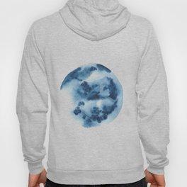 Watercolor Circle Abstract Simple   Blue Blob May 31 Hoody
