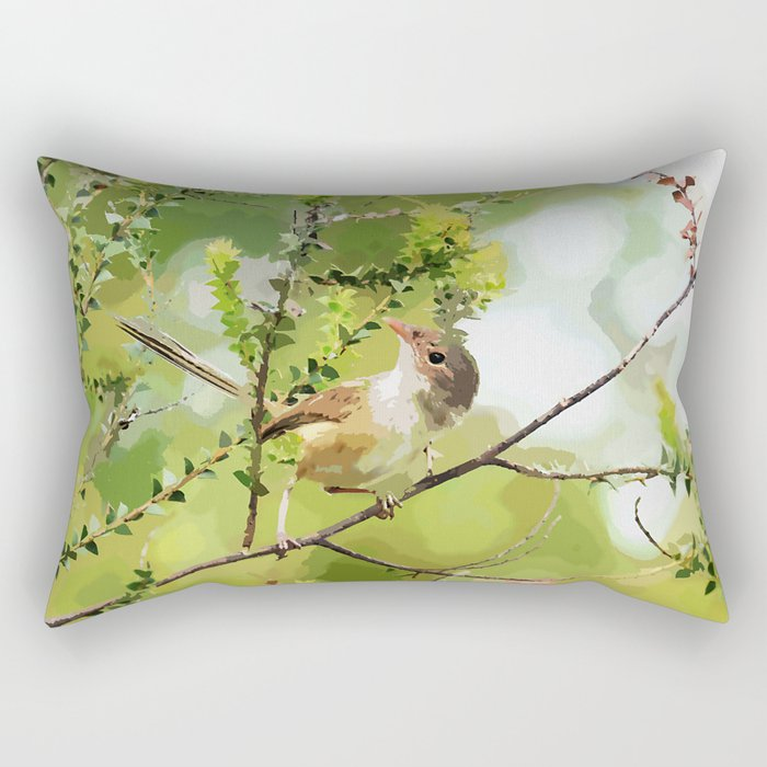 Fairy Wren Rectangular Pillow