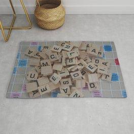 Scrabble Tile Board Game Rug