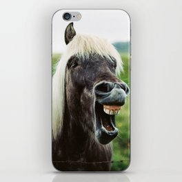 Iceland - Cheer up horse (Leica M3 & Kodak film) iPhone Skin