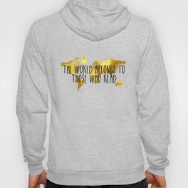The World Belongs to those Who Read - Gold Hoody