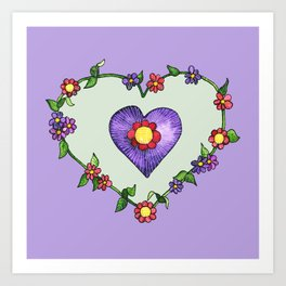 Heartily Floral Art Print