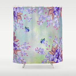 lilac, Purple, Burgundy, mix Turquoise Shower Curtain