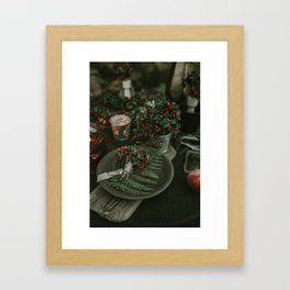 Holly and Greens (Color) Framed Art Print