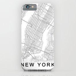 New York Map, Manhattan, USA City Map iPhone Case