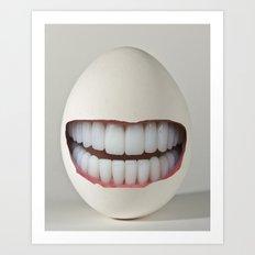 Dental Egg Art Print