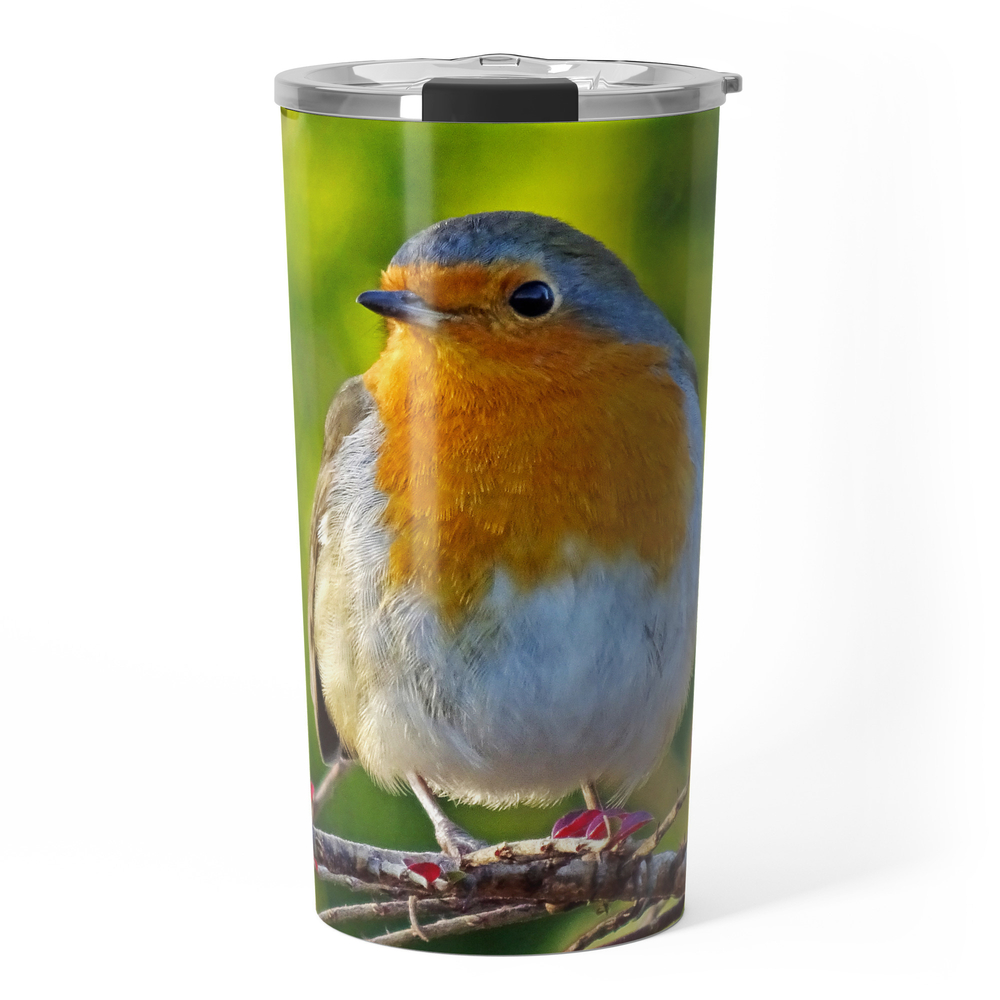 Robin Redbreast Travel Mug by catherineogden (TRM8331014) photo