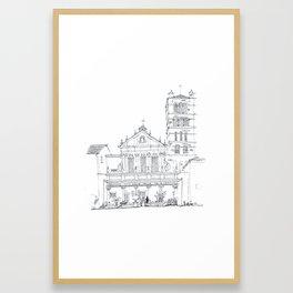 Basilica di Santa Cecilia in Trastevere Framed Art Print