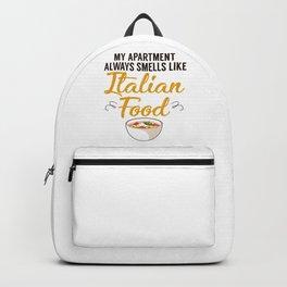 Apartment Italian Food Pizza Baker Word Backpack