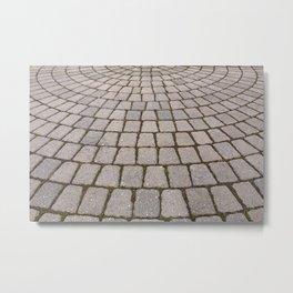 Radial Pavement Tiles Metal Print