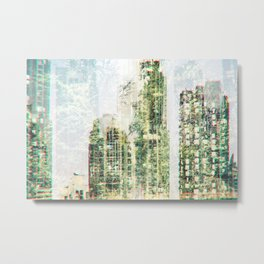 Cityscape and forest Metal Print