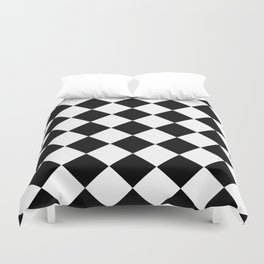 Diamond Black & White Duvet Cover