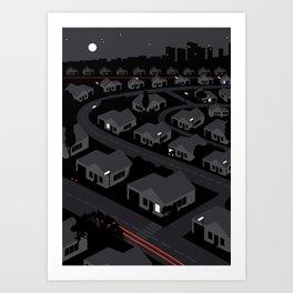 Sub-Urban Night Art Print