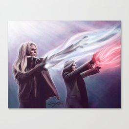 The Savior and the Evil Queen Canvas Print