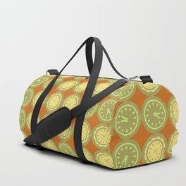 Round clocks pattern Duffle Bag