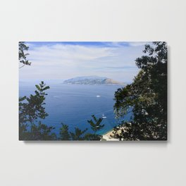 A Walk Through Capri Metal Print