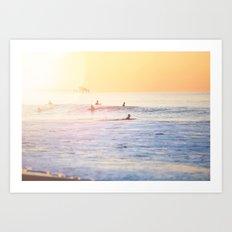 Surf sun Art Print