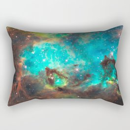 Green Galaxy Rectangular Pillow
