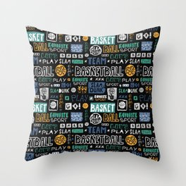Basketball sketch. Pattern. Throw Pillow