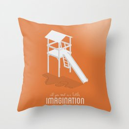Never Forget to Play - Slide Throw Pillow