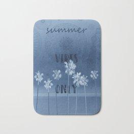 summer vibes only vintage blue Bath Mat