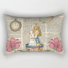 It's Always Tea Time - Alice In Wonderland Rectangular Pillow