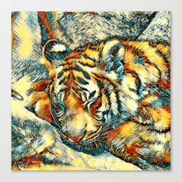 AnimalArt_Tiger_20170606_by_JAMColorsSpecial Canvas Print