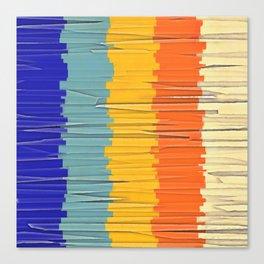 Shredded Stripes Canvas Print