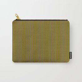 Yellow and Black Honey Bee Vertical Nautical Sailor Stripe Carry-All Pouch
