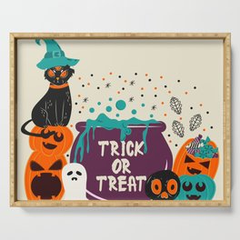 Trick or Treat Halloween Serving Tray