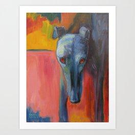 Noble Greyhound Art Print