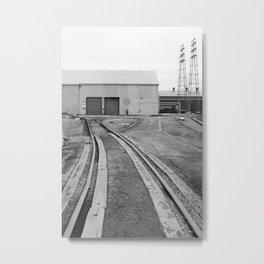 Worn Industry - B/W Metal Print