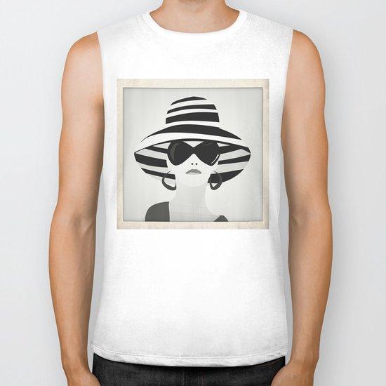 Snapshot (black & white) Biker Tank