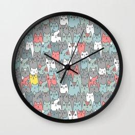 Cats family Wall Clock