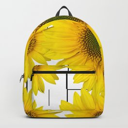 Sunflowers on a squar pattern white background #decor #society6 Backpack