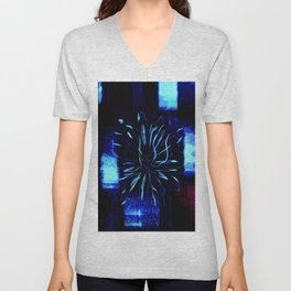 Blue Lotus Unisex V-Neck