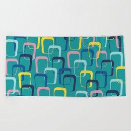 Retro Squares Beach Towel