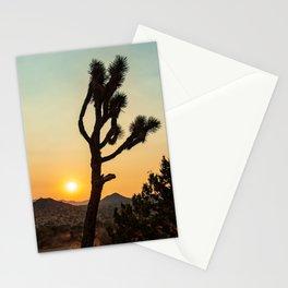 Joshua Tree Desert Vibes (Teal and orange) Stationery Cards