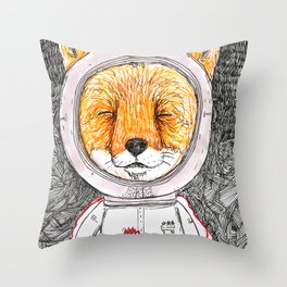 Le Petit Fox  Throw Pillow
