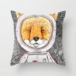 Le Petit Fox  Throw Pillow