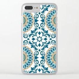 Bluish Variety Pattern Clear iPhone Case