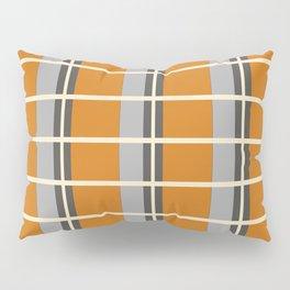 Minimal Abstract Vintage Cream Orange Grey 08 Pillow Sham