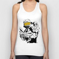 master chief Tank Tops featuring Halo Master Chief by Ashley Rhodes