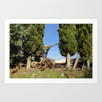 anchors Art Prints featuring Anchors by aeolia