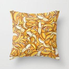 Yellow banana dream. Throw Pillow