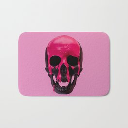 Pink Dripping Skull Bath Mat