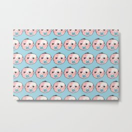 baby boy pattern Metal Print